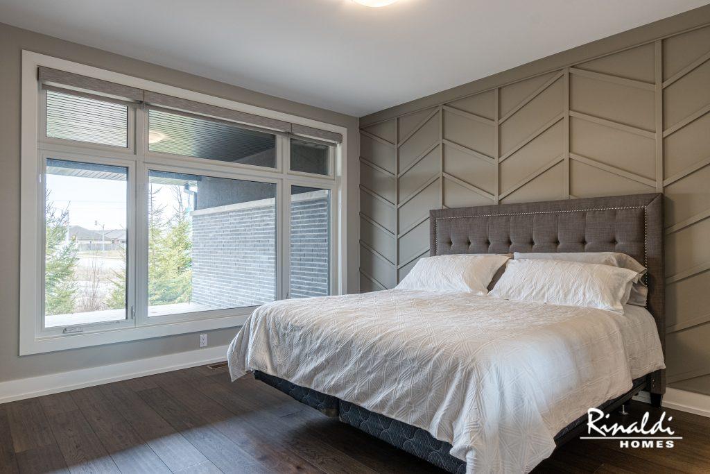 Engineered hardwood flooring in a bedroom